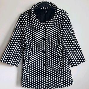 Rafaella polka dot black and white Coat SZ L